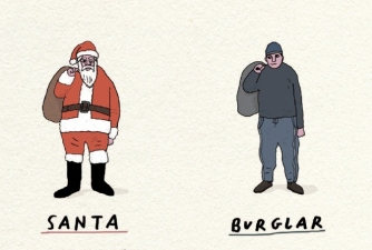 Burglar In Edinburgh At Christmas